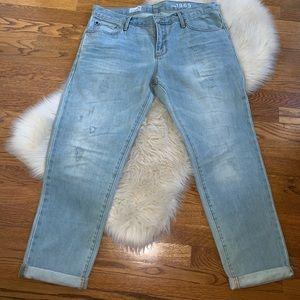 Gap sexy boyfriend distressed denim jeans size 30